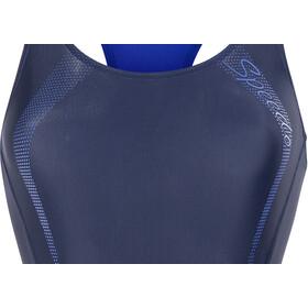 speedo Sports Logo Medalist Swimsuit Women navy/blau